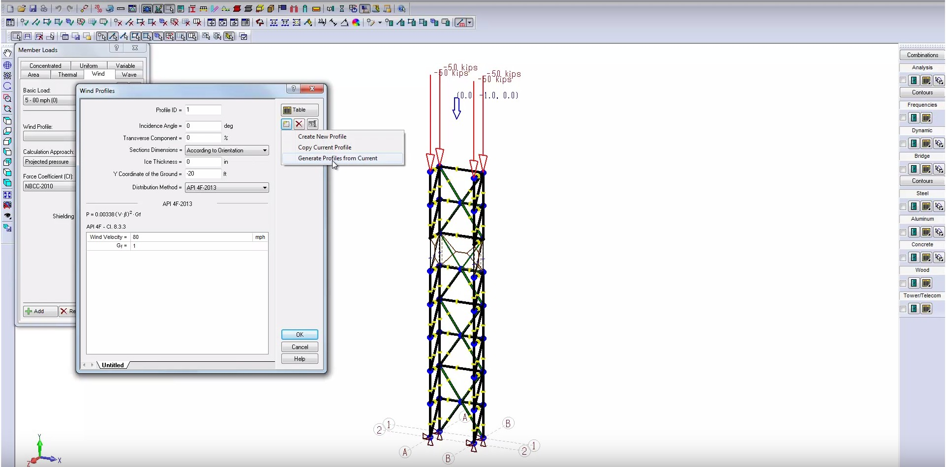 → MODELING AND ANALYSIS OF A MAST
